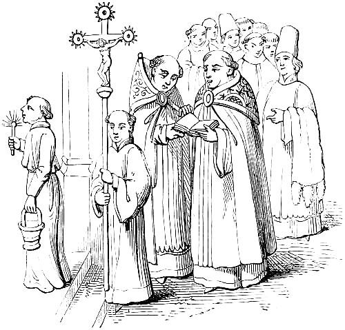 Priest ploughs lad outdoor