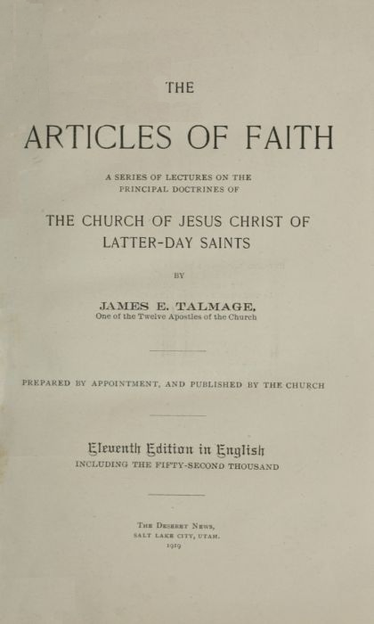 The project gutenberg ebook of the artticles of faith a series of articles of faith fandeluxe Choice Image