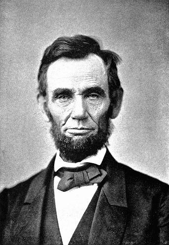 CIVIL WAR PRESIDENT ABRAHAM ABE LINCOLN SPINNER KEY CHAIN RING NEW