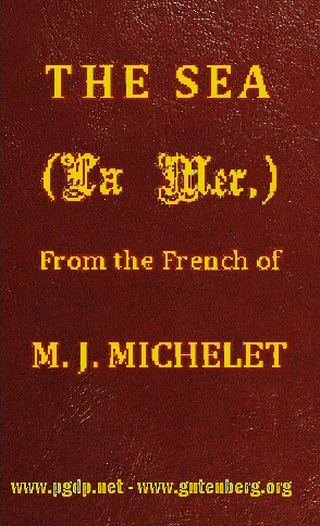 The Sea By M J Michelet A Project Gutenberg Ebook