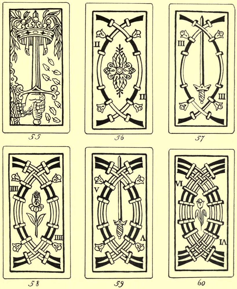 Prophetical educational and playing cards by mrs john king van pip cards of the sword suit biocorpaavc Choice Image