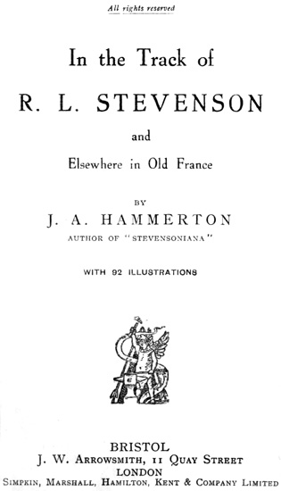 The project gutenberg ebook of in the track of r l stevenson and e text prepared by melissa mcdaniel and the online distributed proofreading team httppgdp from page images generously made available by fandeluxe Gallery