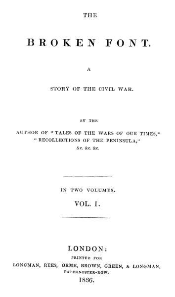 The Broken Font Vol 1 Of 2 By Moyle Sherera Project Gutenberg Ebook