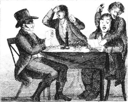 men at a table