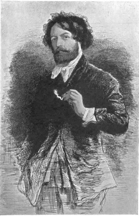 Modest Clément Auguste Andrieux 1829-1880 Charcoal Gustave Courbet Carolus Duran