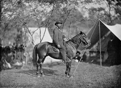 f1fa67c46f2 He was riding his favorite horse and carelessly smoking a cigar when one of  Mr. Brady s men called to him to halt a moment while he took this picture.