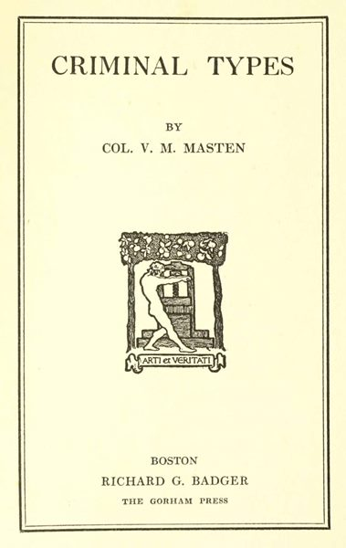 Criminal types by v m mastena project gutenberg ebook this project gutenberg ebook criminal types produced by the online distributed proofreading team at httppgdp this file was produced from fandeluxe Images