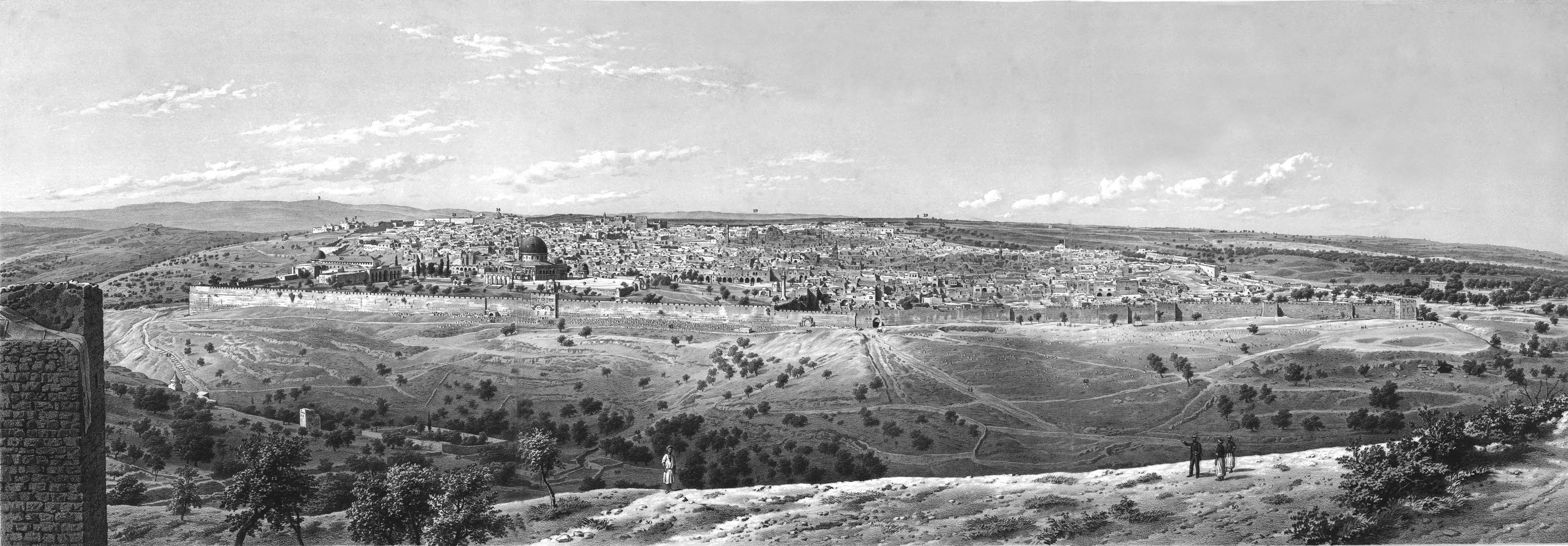 The project gutenberg ebook of jerusalem explored by ermete pierotti illustration panorama of jerusalem seen from the mount of olives fandeluxe Ebook collections