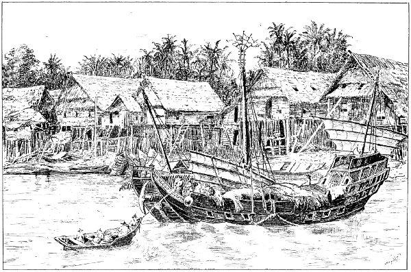 landungsplatz von raffles in singapur