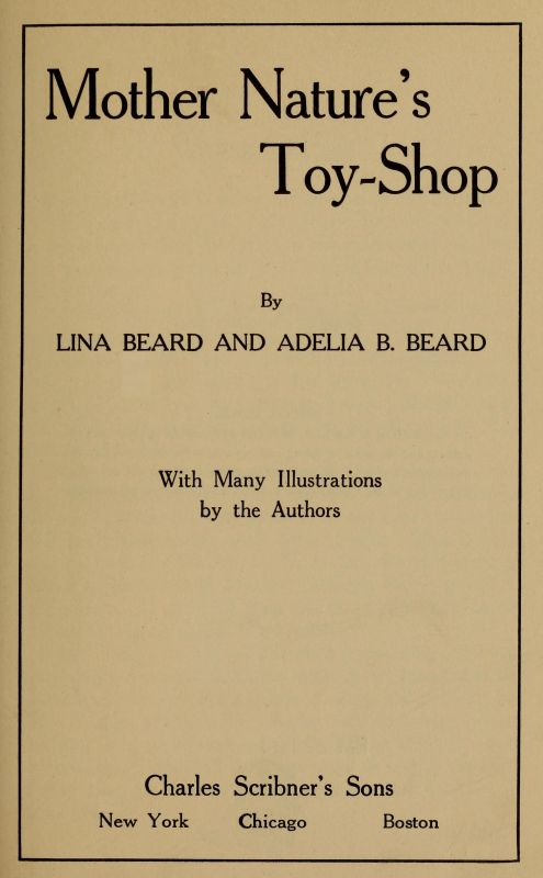 The Project Gutenberg Ebook Of Mother Nature S Toy Shop By Lina