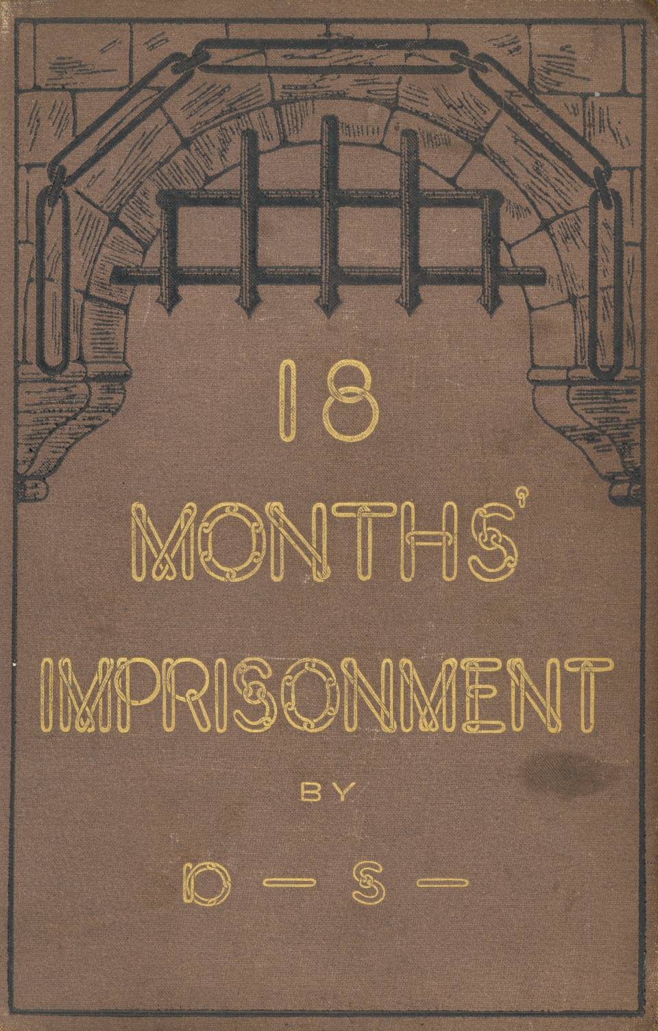 Eighteen months imprisonment by donald shaw volume cover fandeluxe Image collections