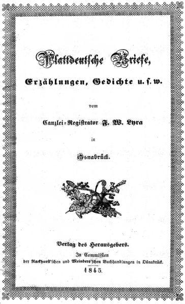 The Project Gutenberg Ebook Of Plattdeutsche Briefe