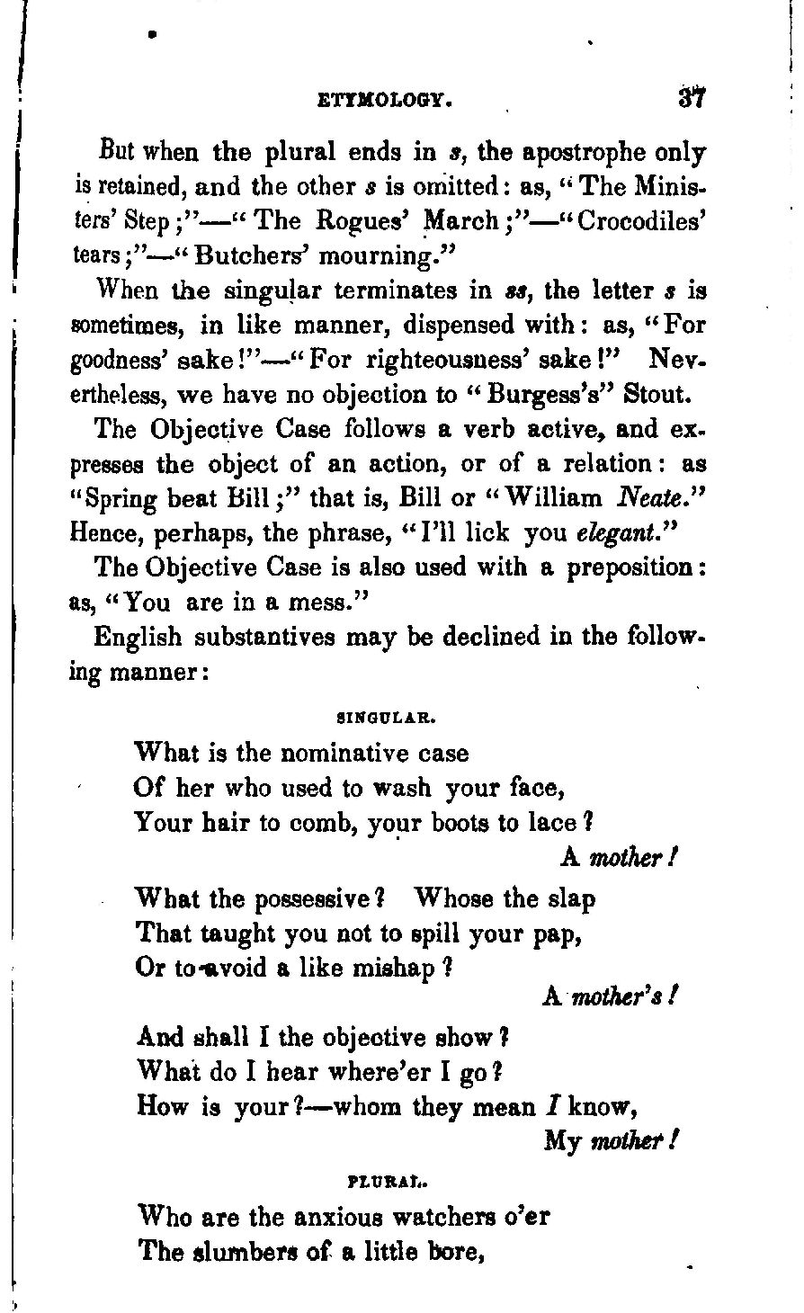 The comic english grammar by percival leigh but 037when stopboris Image collections