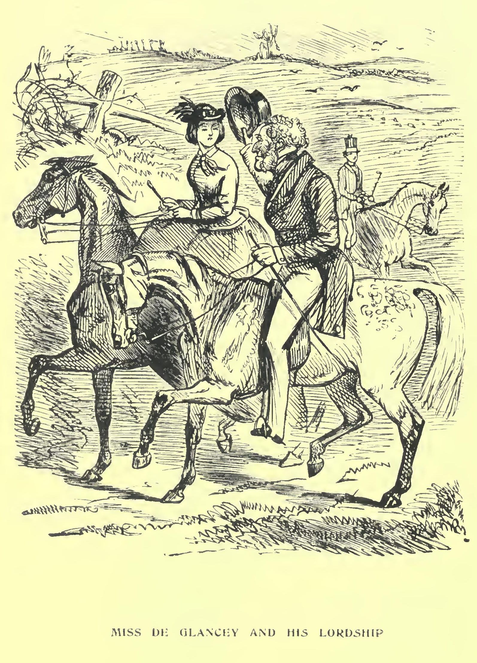 And thus the mynx held the sprightly youth in tow, till she nearly drove  him mad, not missing any opportunity of meeting him, but never giving him  too much ...