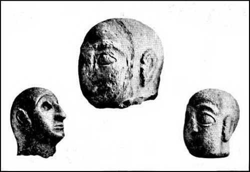 Archaic Limestone heads