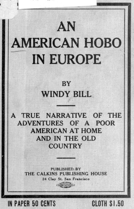 The project gutenberg ebook of an american hobo in europe by windy cover fandeluxe Gallery