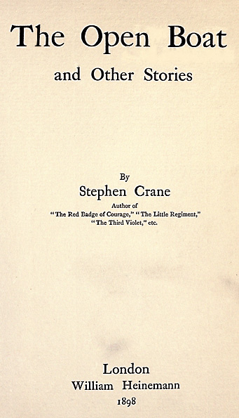The Project Gutenberg Ebook Of The Open Boat And Other Stories By Stephen Crane