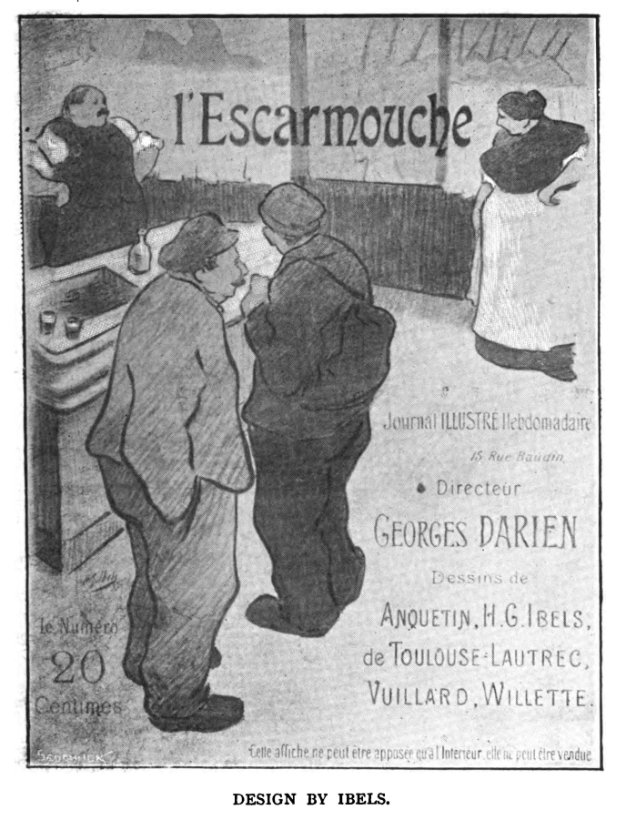CAUDIEUX FRENCH CAFE CONCERT ACTOR TOULOUSE LAUTREC VINTAGE POSTER REPRO
