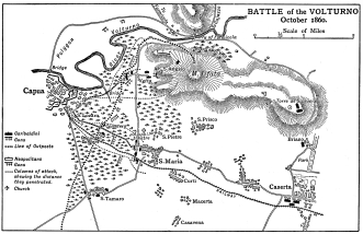 Map of the BATTLE of the VOLTURNO&lt;br /&gt;<br /> October 1860.