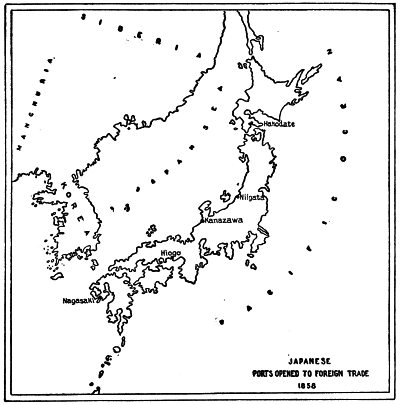 JAPANESE PORTS OPENED TO FOREIGN TRADE 1858