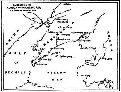 CAMPAIGNS IN KOREA AND MANCHURIA CHINO-JAPANESE WAR