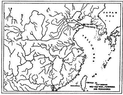 MAP SHOWING WEI-HAI-WEI, FORMOSA AND PESCADORES