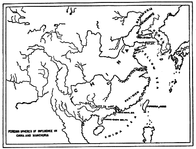 FOREIGN SPHERES OF INFLUENCE IN CHINA AND MANCHURIA