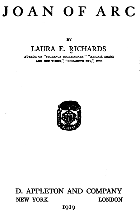 The Project Gutenberg Ebook Of Joan Of Arc By Laura E