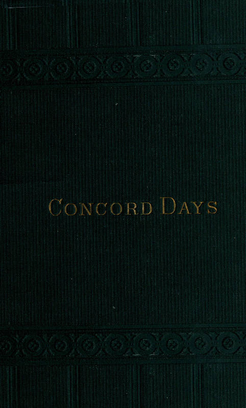 The project gutenberg ebook of concord days by a bronson alcott concord days fandeluxe Choice Image
