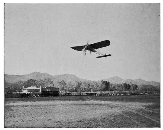 FIRST ACTUAL WAR EXPEDITION OF AN AEROPLANE