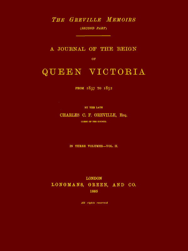 A journal of the reign of queen victoria from 1837 to 1852 volume 2 transcribers note fandeluxe Image collections