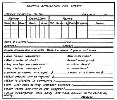 The project gutenberg ebook of cyclopedia of commerce accountancy fig 11 branch office credit application fandeluxe Images