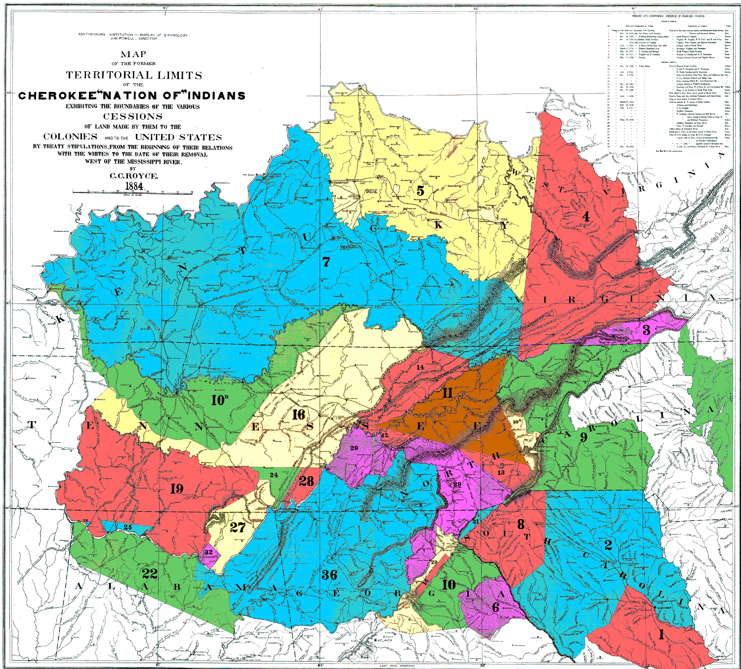 The Cherokee Nation of Indians  (1887 N 05 / 1883—1884