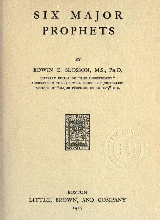 The project gutenberg ebook of six major prophets by edwin e slosson ebook six major prophets produced by marc dhooghe at httpfreeliterature images generously made available by the internet archive fandeluxe Images