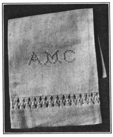 The project gutenberg ebook of the home making series clothing and a guest towel marked with cross stitch fandeluxe Image collections