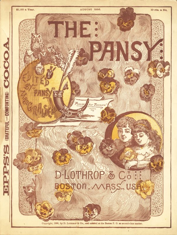 The project gutenberg ebook of the pansy magazine august 1886 by cover fandeluxe Choice Image