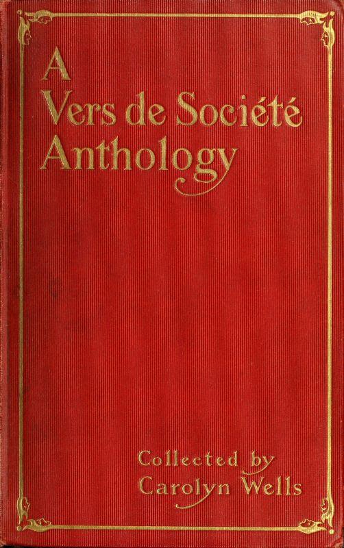 The project gutenberg ebook of a vers de socit anthology edited a vers de socit anthology fandeluxe Gallery
