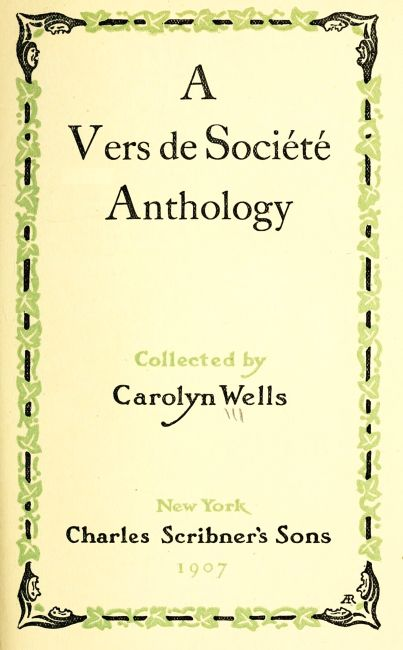 The project gutenberg ebook of a vers de socit anthology edited anthology fandeluxe Gallery