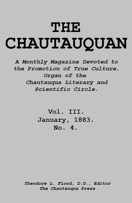 The project gutenberg ebook of the chautauquan january 1883 by cover fandeluxe Images