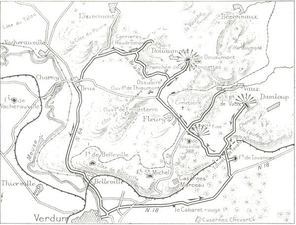 The Project Gutenberg Ebook Of Verdun Argonne Metz 1914 1918 By