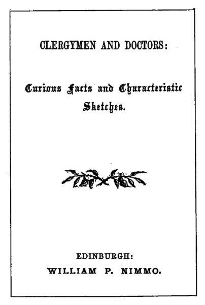 Fine The Project Gutenberg Ebook Of Clergymen And Doctors Creativecarmelina Interior Chair Design Creativecarmelinacom