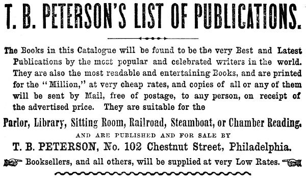 The project gutenberg ebook of t b petersons list of publications t b petersons list of publications fandeluxe Image collections