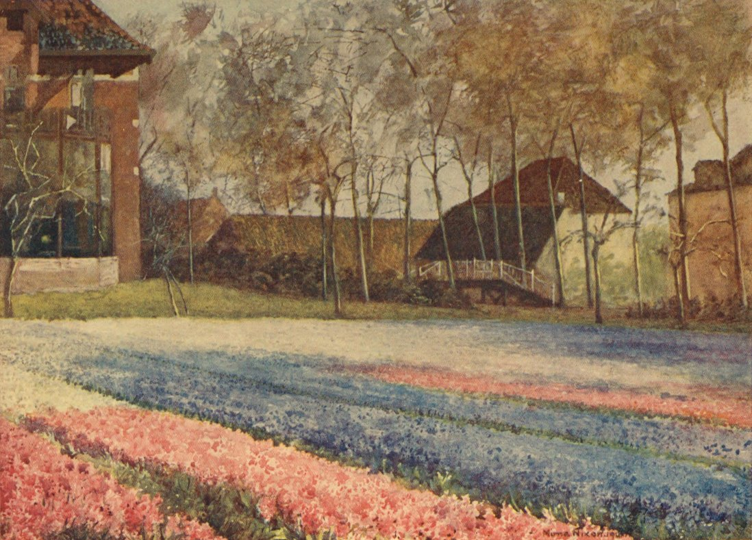 The Project Gutenberg eBook of Dutch Bulbs and Gardens, by Una Silberrad