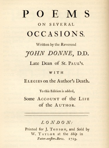 The Project Gutenberg Ebook Of The Poems Of John Donne