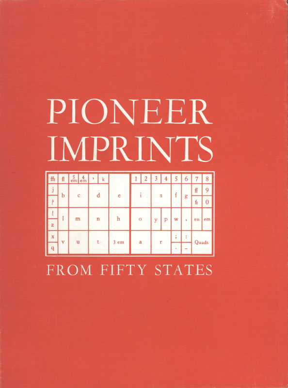 The project gutenberg ebook of pioneer imprints from fifty states cover fandeluxe Choice Image