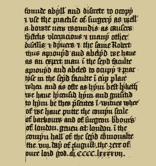 The project gutenberg ebook of the annals of the barber surgeons of fac simile of the diploma granted by the master and wardens of the barber surgeons to robert anson 8 aug 1497 enabling him to practise as a surgeon fandeluxe Image collections