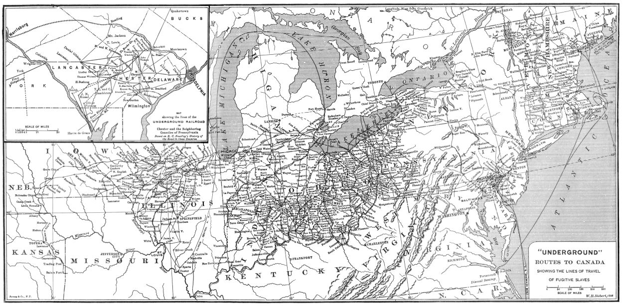 Underground Railroad New York Map.The Project Gutenberg Ebook Of The Underground Railroad From Slavery
