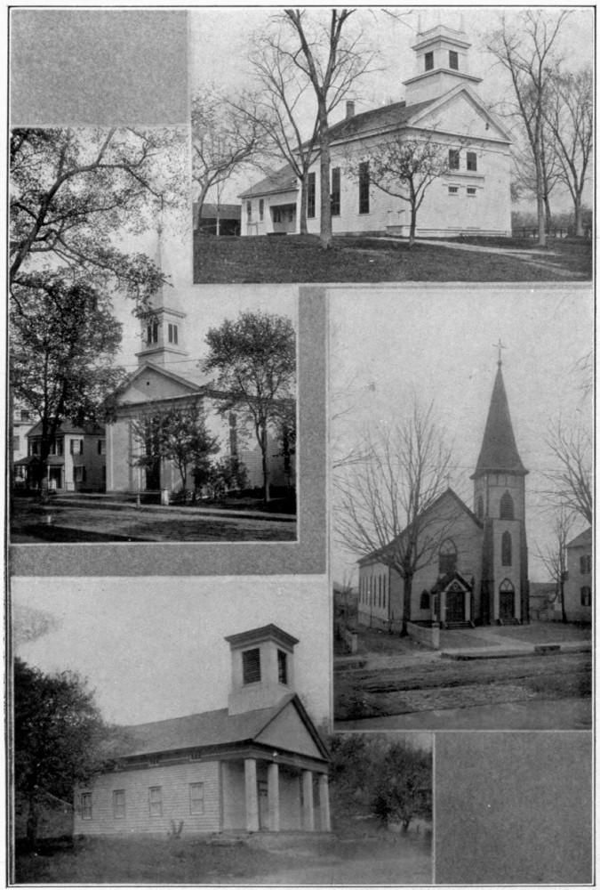 Some Neword Churches Methodist Episcopal Baptist Northville Methodistlordsville Saint Francis Xavier