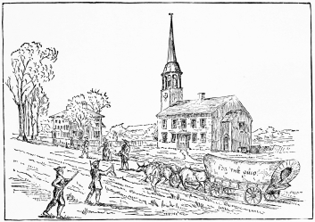 CUTLERS CHURCH AND PARSONAGE AT IPSWICH HAMLET 1787 THE PLACE FROM WHICH