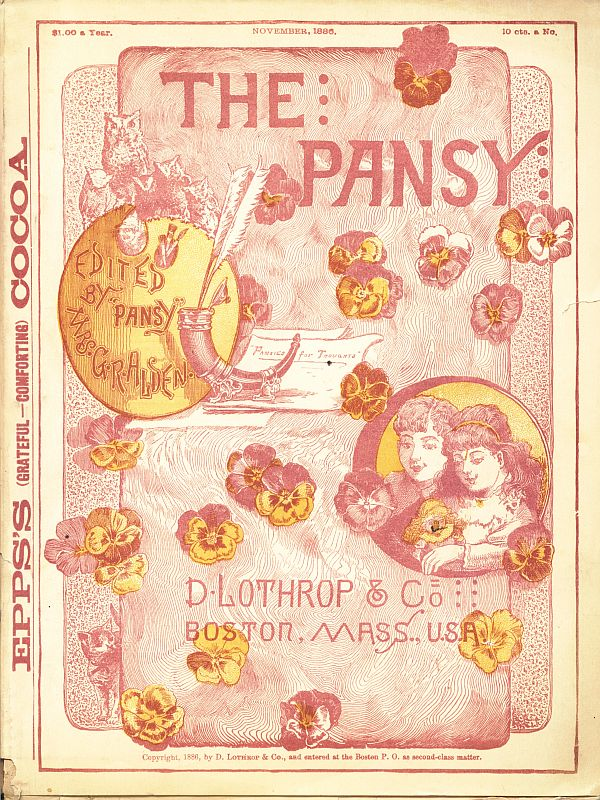 The project gutenberg ebook of the pansy november 1886 by pansy cover fandeluxe Image collections